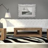 Komplet TRÄHUS to nowoczesne połączenie minimalistycznej formy i tradycyjnych materiałów. Współczesny rustykalny charakter mebli pasuje również do wnętrz w stylu industrialnym, loftów i nowoczesnych wnętrz. Komplet mebli TRÄHUS urzeka naturalnym pięknem.