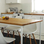 Stół Basic TRE. Unikatowy wygląd stołu, odwołujący się do cech stylu skandynawskiego, zapewnia jego uniwersalne zastosowanie i sprawia, że dobrze komponuje się we wnętrzach prostych i nowoczesnych.