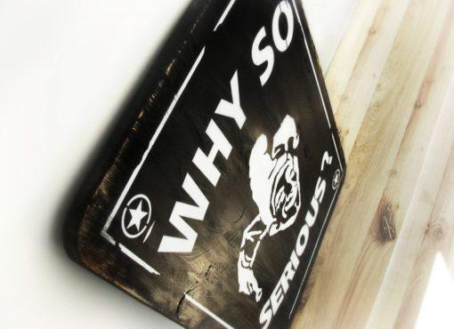 tablica dekoracyjna - smile black SFD 001