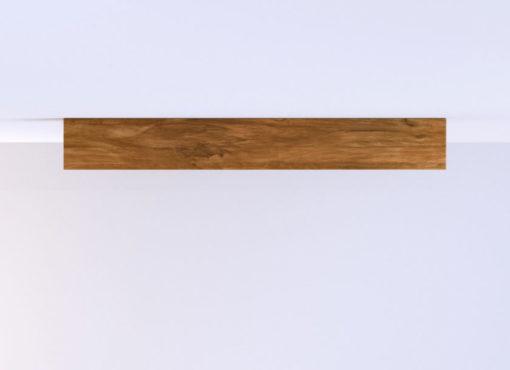Półki wykonane są litego drewna dębowego o unikatowej strukturze i oryginalnym, niepowtarzalnym rysunku słojów.