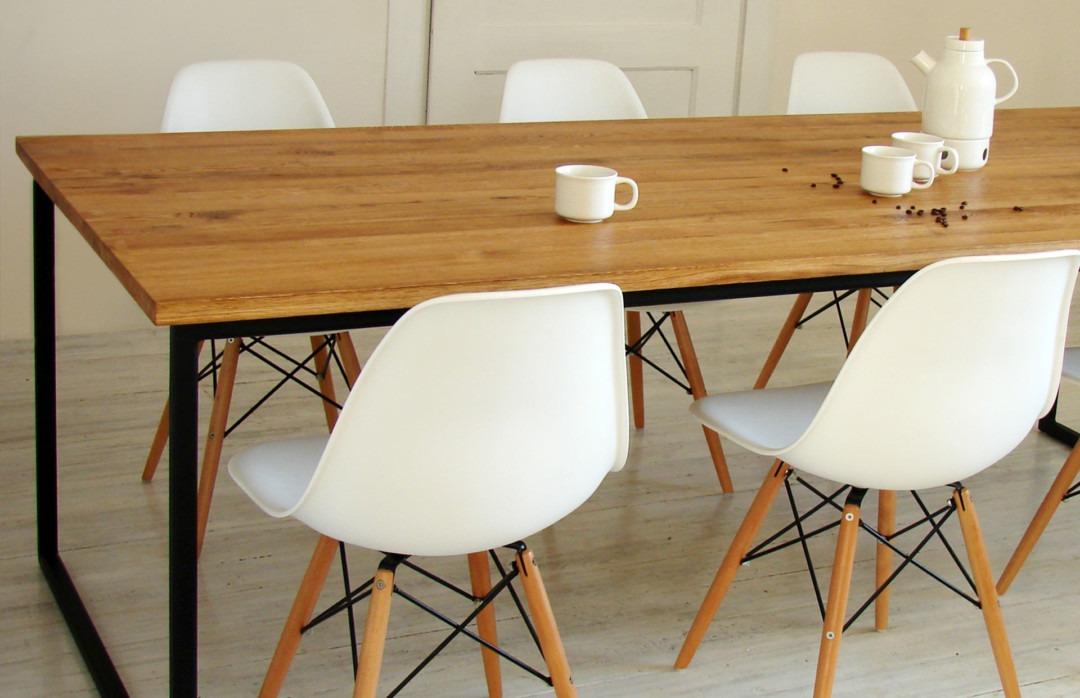 Stół do jadalni z czarnymi nogami Basic NIO