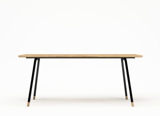 Stół do kuchni w stylu skandynawskim, FINT Black. Nowoczesny industrialny stół.
