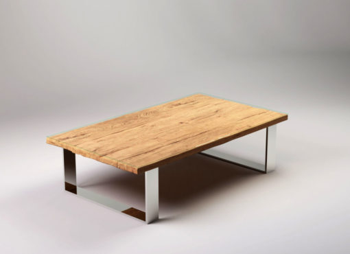 Ława do salonu Virkera to mebel o oryginalnym wyglądzie, który stanowi silny akcent kompozycyjno-przestrzenny każdego wnętrza. Designerski stolik kawowy.