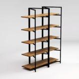Regał drewniany BONITO BLACK składa się ze stalowej, malowanej na kolor czarny konstrukcji oraz pięciu półek wykonanych z litego drewna dębowego. Regał drewniany BONITO BLACK wykonany jest ręcznie na indywidualne zamówienie.