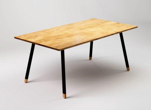 Stół designerski do kuchni w stylu skandynawskim, FINT Black. Nowoczesny industrialny stół.