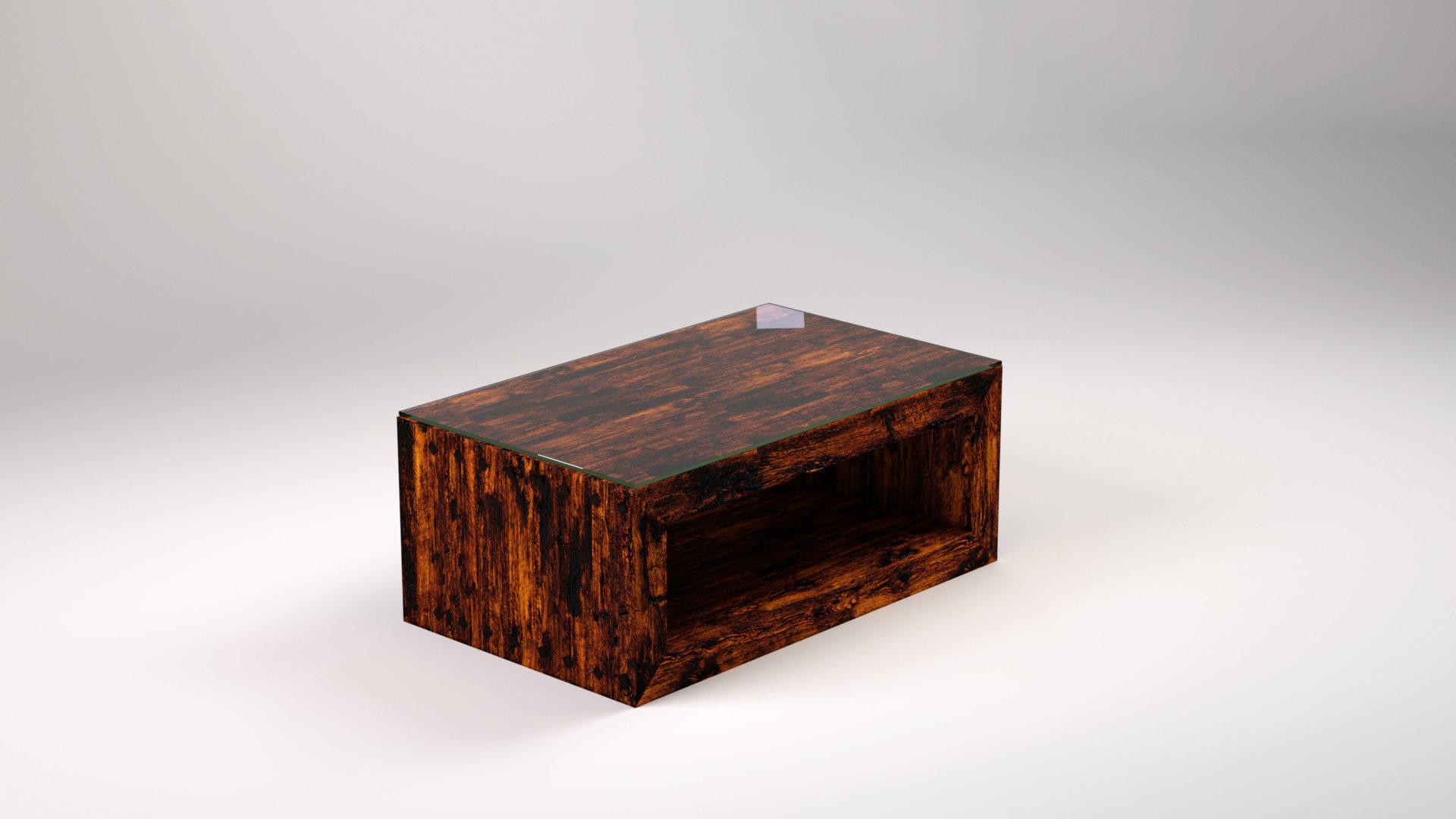 """ROBUST to stolik kawowy drewniany, który szybko stanie się """"sercem"""" naszego salonu i intrygującym punktem centralnym codziennych aktywności."""