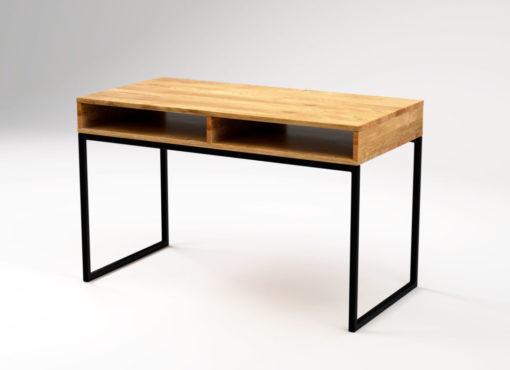 Wygodne i praktyczne biurko Light Bläck jest dostępne w dwóch wariantach kolorystycznych - z ramą w kolorze białym lub czarnym.