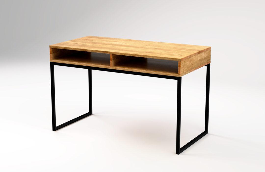 Biurko z półką w stylu skandynawskim
