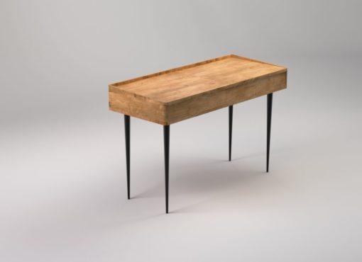 biurko ze schowkiem w stylu skandynawskim