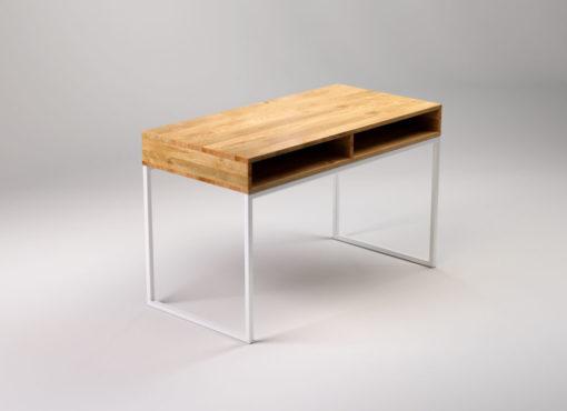LIGHT SKRIVEN to nowoczesne biurko do biura i domu. Ręcznie wykonane z litego drewna dębowego i stali. Elegancki i minimalistyczny design.
